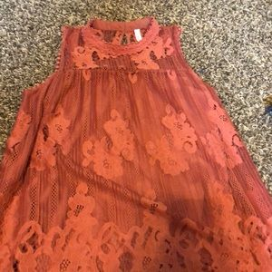 Dusty Rose Lace Tank